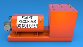 Black Box, the data recording device. Of aircraft or boats royalty free stock photo