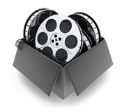 Black box and films. (done in 3d Stock Photography