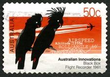Black Box Flight Recorder Australian Postage Stamp Stock Images