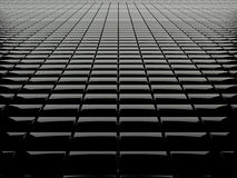 Black box grid. Concept of black shiny box background Stock Image