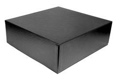 Black Box. Mysterious black box. Isolated. Horizontal Royalty Free Stock Photos