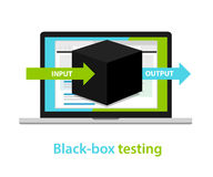 Black box testing input output process  software development methodology Royalty Free Stock Image