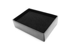 Black box with velvet Royalty Free Stock Photography