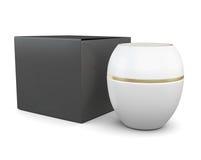 Black Box y tarro blanco de cosméticos Stock de ilustración