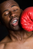 Black Boxer Man Royalty Free Stock Image