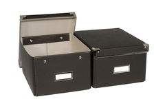 Black boxes Stock Images