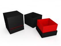 Black boxes Stock Image