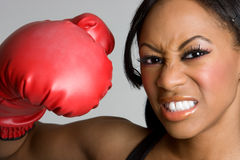 Black Boxing Girl Stock Photos