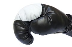 Black boxing glove stock images