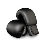 Black boxing gloves Royalty Free Stock Images