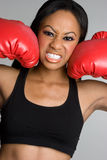 Black Boxing Woman Royalty Free Stock Photography