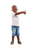 Black boy thumb up. Portrait of little black boy with thumb up Stock Photography