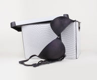 Black bra in box Stock Images