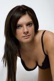 Black bra leaning Stock Images