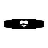 Black bracelet heart cardiology icon. Image,  illustration Royalty Free Stock Photography