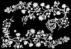 black branches illustrationwhite Royaltyfria Foton