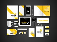 Black branding Mockup. Vector Stock Photo