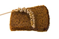 Black bread Royalty Free Stock Photography