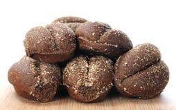 Black bread bun Stock Images
