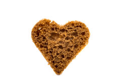 Black bread heart Stock Images