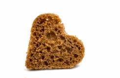 Black bread heart Stock Photos