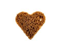 Black bread heart Royalty Free Stock Photos