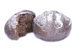 Black bread. Isolated on white background Royalty Free Stock Image