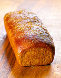 Black bread loaf Royalty Free Stock Photography