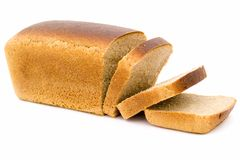 Black bread loaf Stock Images