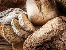 Black bread loafs. Royalty Free Stock Photo
