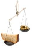 Black bread and money Stock Photos