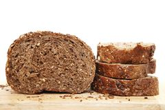 Black bread with seeds for diet Stock Images