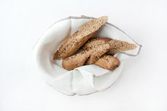 Black bread with sesame seed flax Stock Images