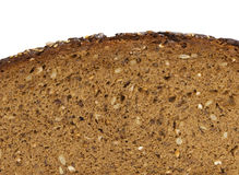 Black bread slice Stock Photography