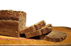 Black bread with sliced slices Royalty Free Stock Photography