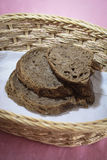 Black bread. Slices of brown bread in a basket Royalty Free Stock Photography