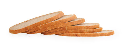 Black bread slices Stock Images