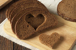 Black bread slices Stock Photography