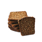 Black bread slices stack isolated Royalty Free Stock Photography