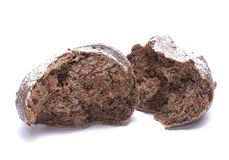 Black bread. On white background Stock Photography