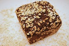 Black Bread. On white background Stock Photos