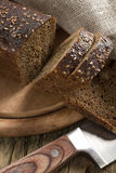 Black Bread With Sesame Seeds Royalty Free Stock Photos