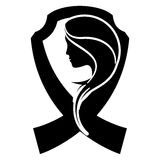 Black breast cancer ribon with woman. Symbol image design Royalty Free Stock Images