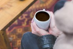Black, Brewed Coffee, Drink, Cup Royalty Free Stock Photography