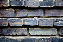 Black brick background Royalty Free Stock Photography