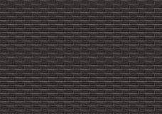 Black brick mosaic tiles texture background. stock photography