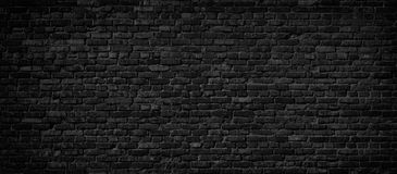 Black brick wall background. royalty free stock images