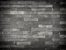 Black brick wall 1. Stock Photos