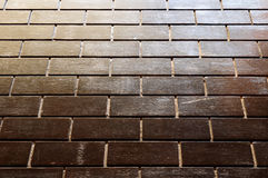 Black brick wall. Background and texture Royalty Free Stock Photos