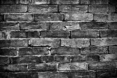 Black Brick wall. Texture style Royalty Free Stock Images